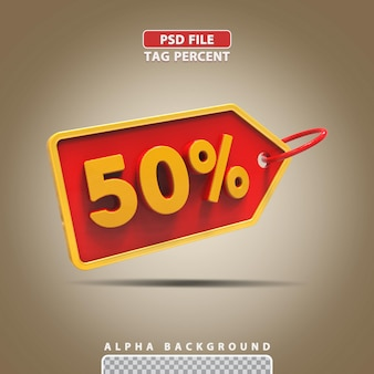 3d porcentagem 50 por cento
