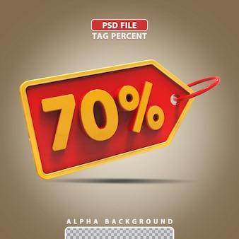 3d porcentagem 70 por cento