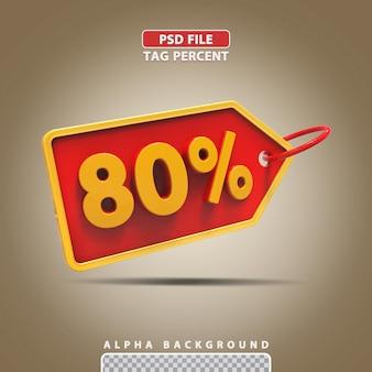 3d porcentagem 80 por cento