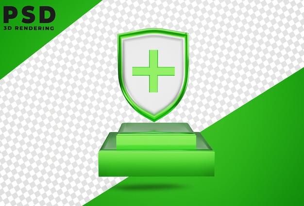 3d proteção médica proteção médica escudo isolado