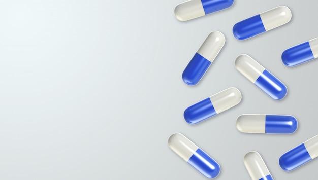 3d realista comprimido médico fundo