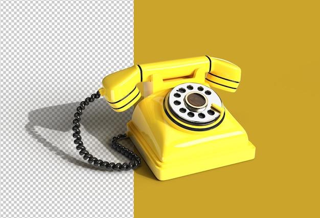 3d rendem o conceito de telefone antigo.