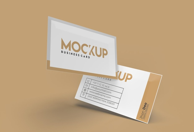 3d rendem pilha de cartões de visita design de maquete.