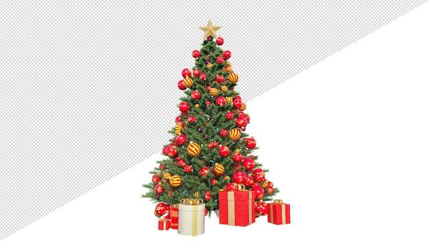 3d render árvore de natal