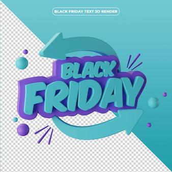 3d render black friday banner