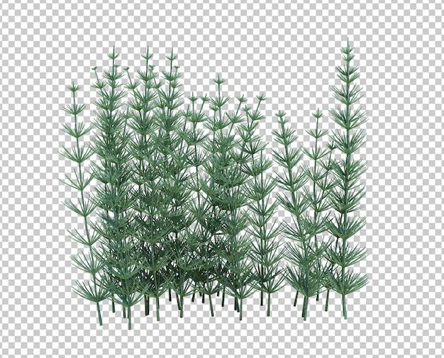 3d render brush tree isolado no branco