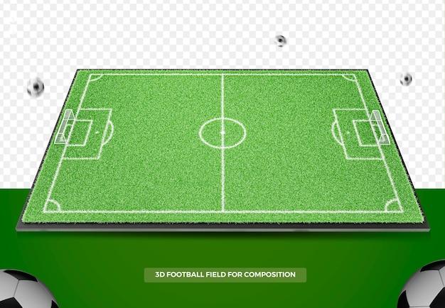 3d render campo de futebol para composição