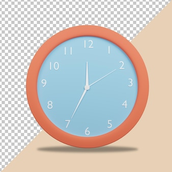 3d render clock icon