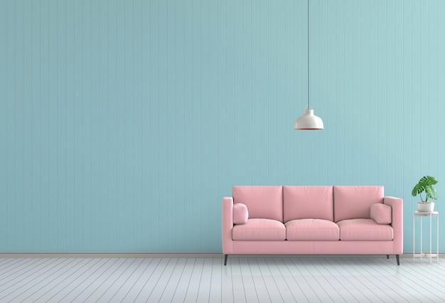 3d render de interior moderno sala de cor viva