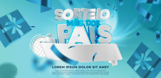 3d render dia dos pais sorteio no brasil