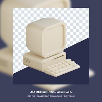 3d render do computador isolado