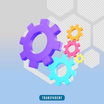 3d render icon gear