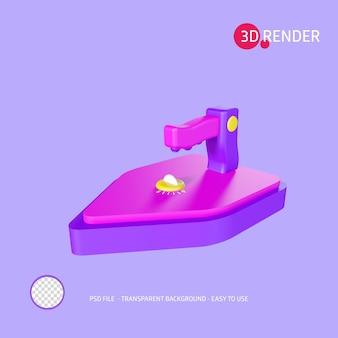 3d render icon iron