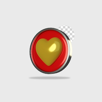 3d render icon love design