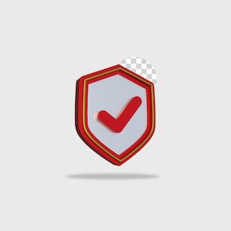 3d render icon scurity design