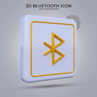 3d render ícone bluetooth isolado