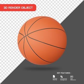 3d render ícone de basquete Psd Premium