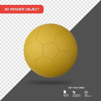 3d render ícone de bola de futebol