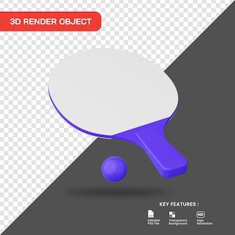 3d render ícone de tênis de mesa