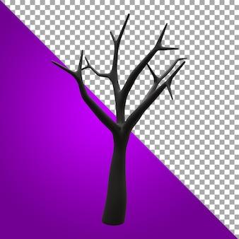 3d render ilustração árvore recurso de halloween
