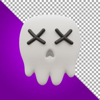 3d render ilustração crânio recurso halloween