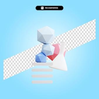 3d render ilustração de elemento geométrico isolado