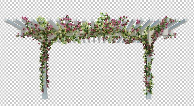 3d render ivy plants isoladas
