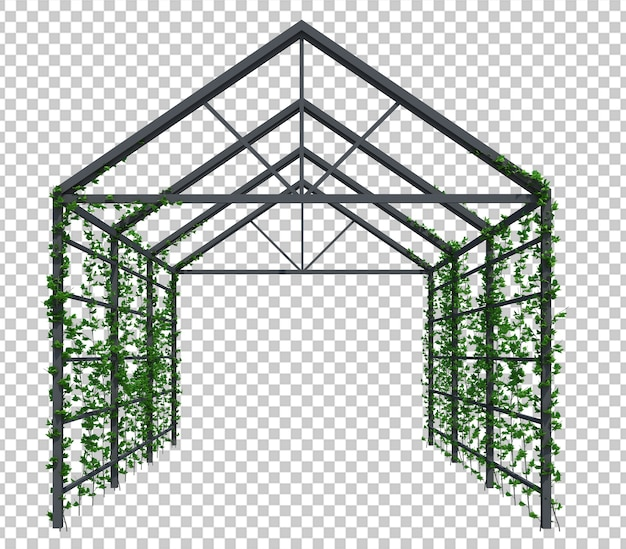 3d render ivy plants isoladas