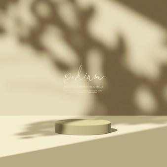 3d render mockup natural shadow overlay background