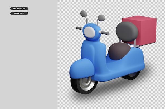 3d render motor delivery premium render