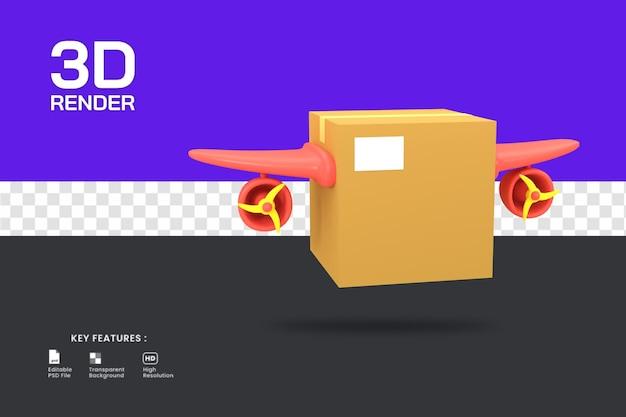 3d render o ícone do serviço de entrega expressa isolado. útil para ilustração de comércio eletrônico ou loja online.