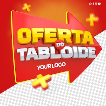 3d render ofertas de tablóides para composição de lojas em geral no brasil
