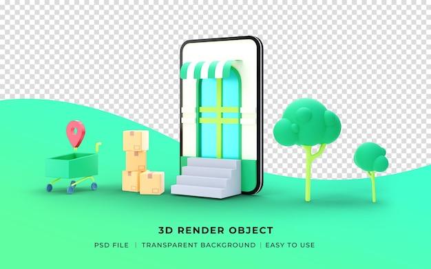 3d render onlineshop