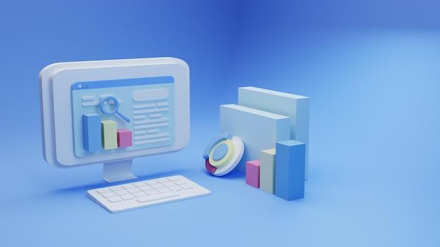 3d render search engine optimization background