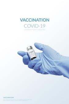 3d render vacinação vacina contra coronavírus