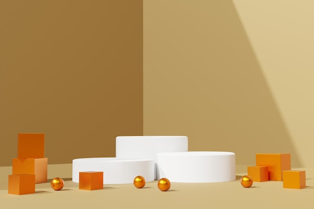 3d renderização elegante de fundo abstrato de cena de pódio