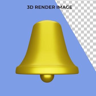 3d renderização sino premium psd