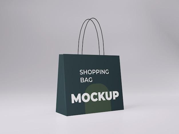 3d renderizado de alta qualidade personalizável para maquete de sacola de compras vista lateral