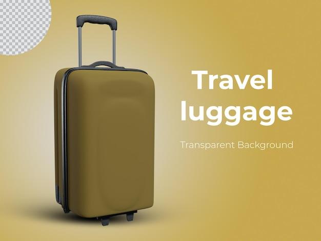 3d renderizado vista frontal da bagagem de viagem