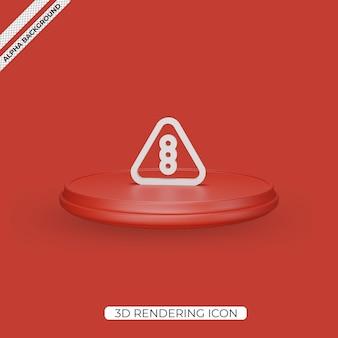 3d semáforo render ícone isolado