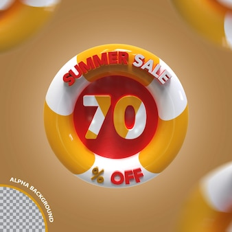 3d verão venda 70 por cento da oferta criativa