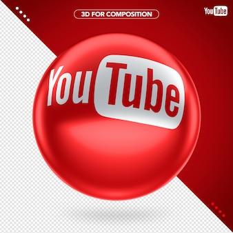 3d vermelho elipse youtube