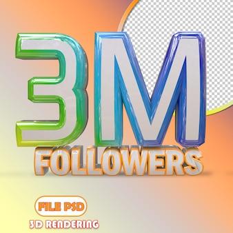 3m seguidores