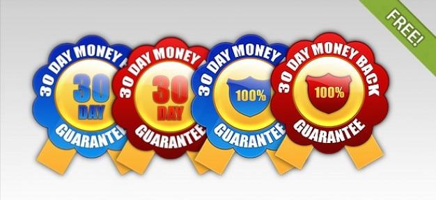 4 free dinheiro de 30 dias de garantia badges voltar