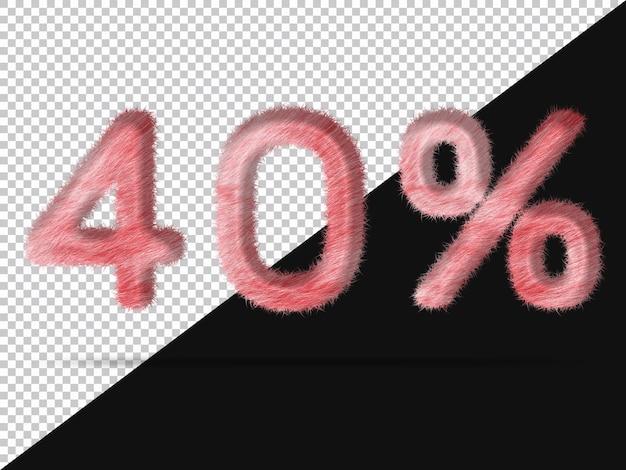 40 por cento com pele 3d realista