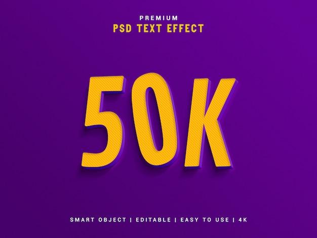 50k seguidor de efeito de texto gerador.