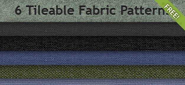 6 grátis tileable patterns fabric