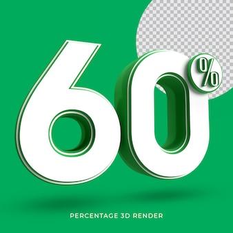 60 por cento 3d renderizar cor verde
