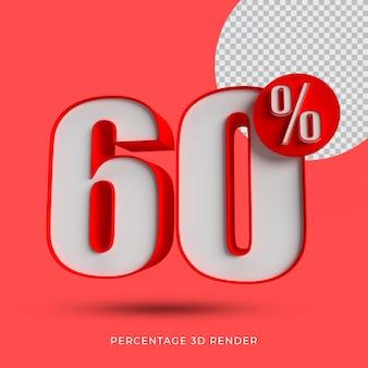 60 por cento de renderização 3d