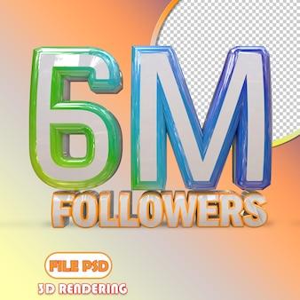6m seguidores
